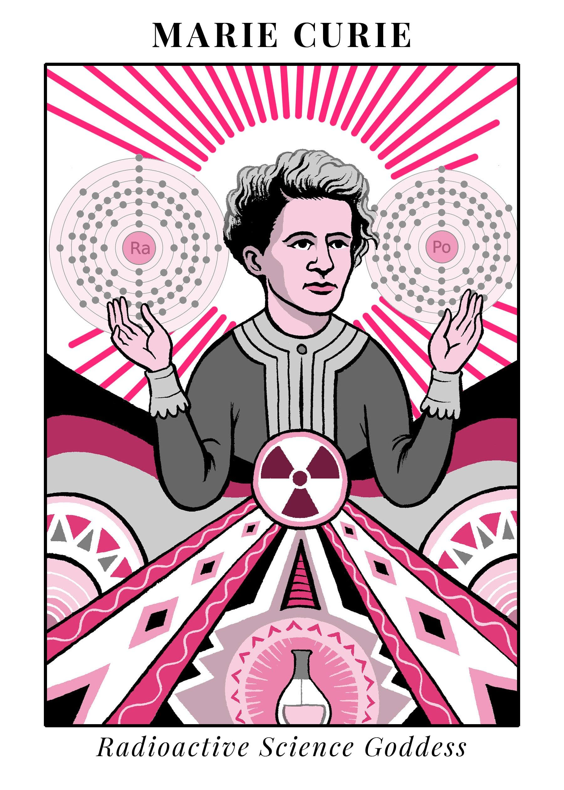 It is a photo of Lucrative Marie Curie Drawing