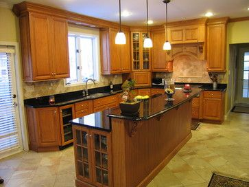 Oak cabinets with white trim   Traditional kitchen, Home ...