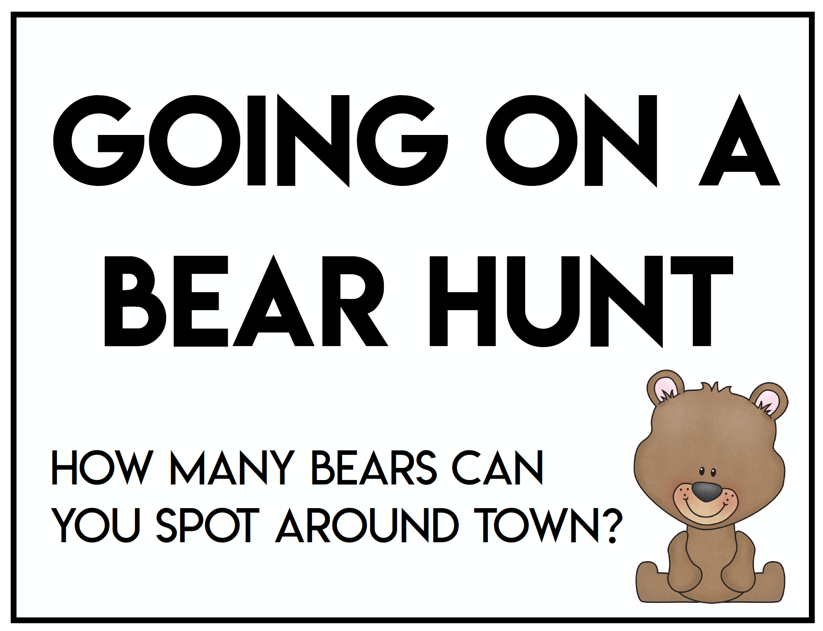 Neighborhood Bear Hunt