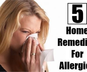 5 Home Remedies For Allergies