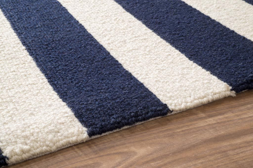Navy Blue And White Striped Area Rug Blue And White Rug Rugs Navy Rug