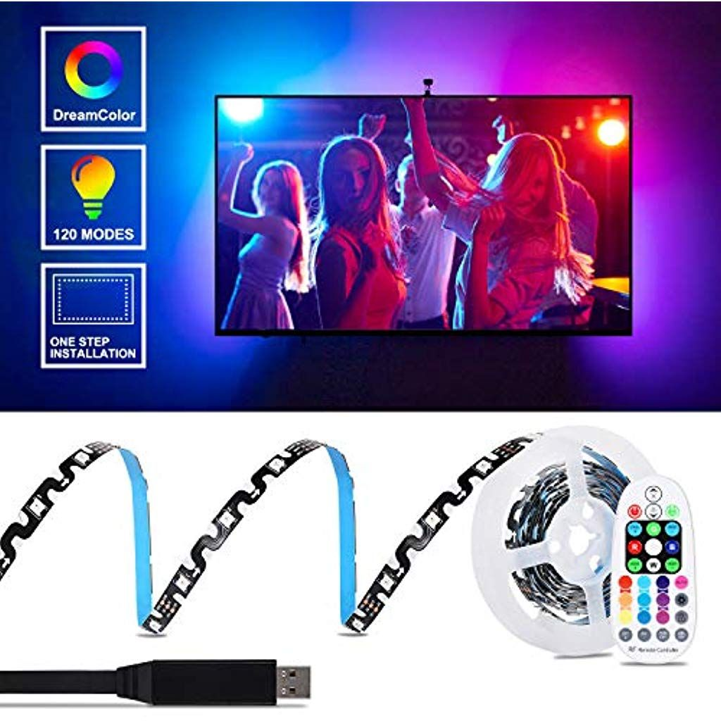 Dreamcolor Led Strip Tv Hintergrundbeleuchtung Aled Light 2m 5050 Rgb Usb Led Streifen Mit Rf Fernbedienung Cha Hintergrundbeleuchtung Led Streifen Led Stripes