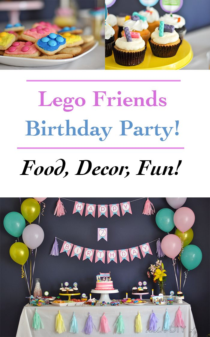Lego Friends Themed Birthday Party - Full of Fun, Color and Legos ...