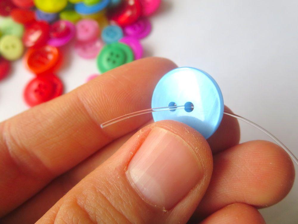 klimperklein: Knopfarmband Tutorial und RUMS