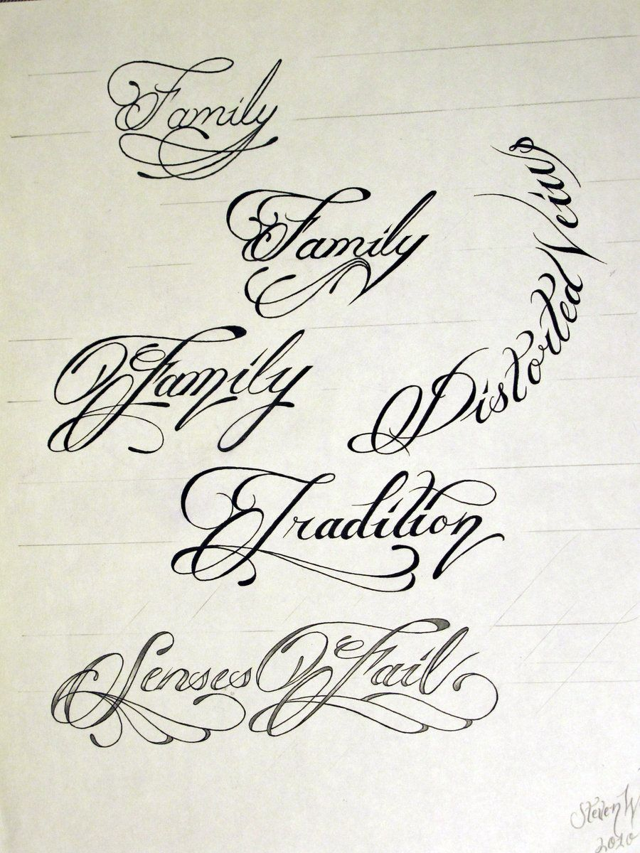 Tattoo Script 1 by StevenWorthey Best tattoo fonts