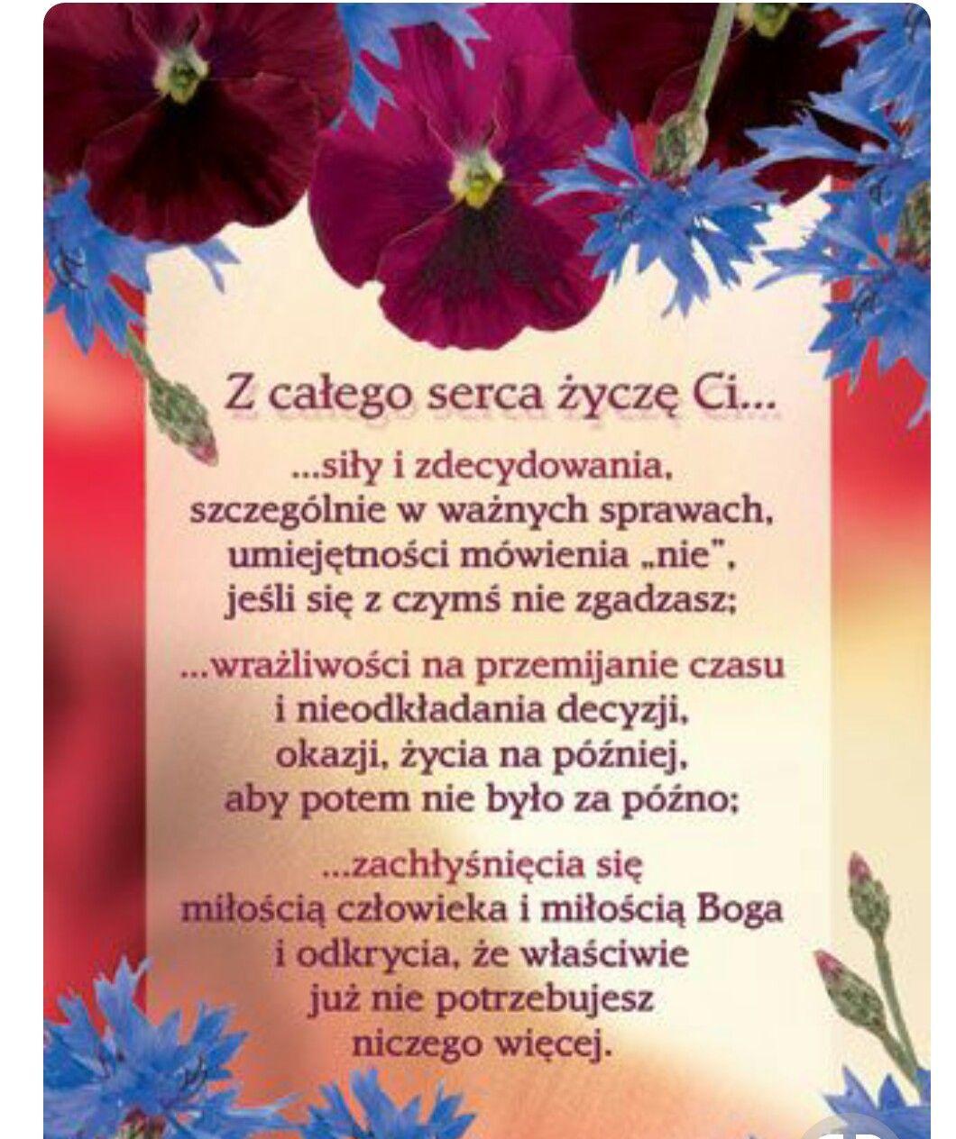 Pin By Anna Radzka On Zyczenia Birthday Wishes Powerful Words Motto