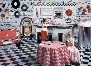 Fabulous 50 39 s party 50 39 s 60 39 s rock n roll party ideas for 50s party decoration