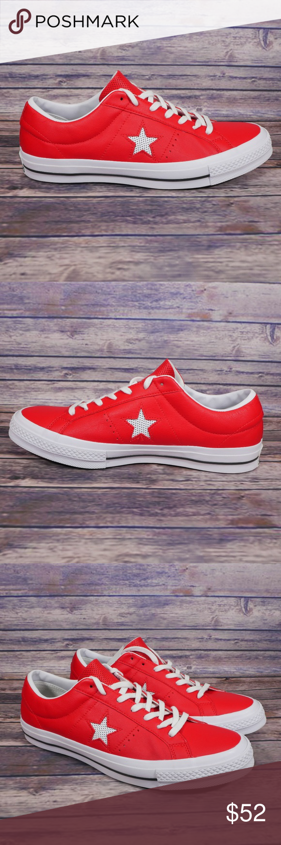 ca68f55f410 NEW Converse One Star Leather Ox Red Sneaker Converse One Star Red Leather  Ox Sneaker 158466C. Mens sizes 11.5 M and 12 M. New without box. Never worn.