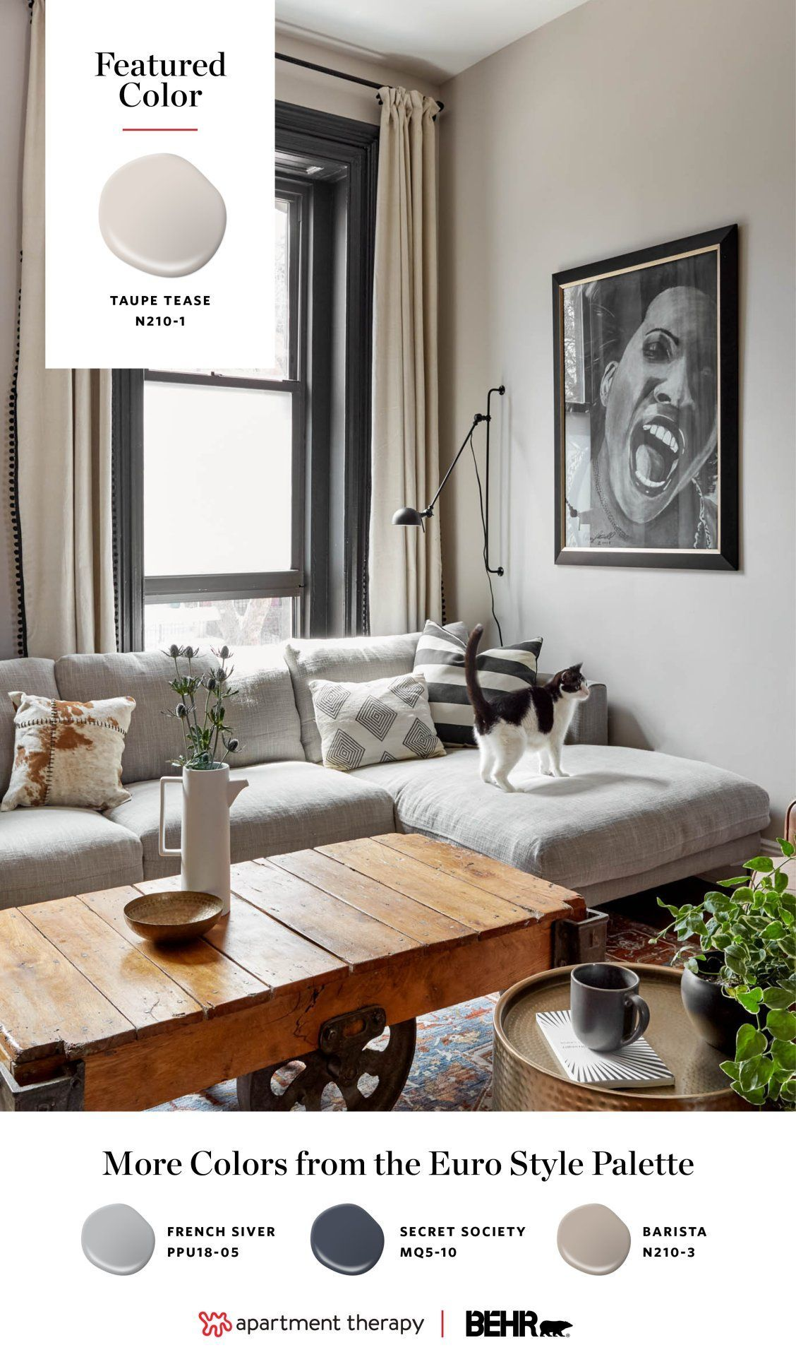 Neutral Living Room Taupe How Classic Neutrals Are Getting A Lot More Exciting Neutralliving Roomta Taupe Living Room Living Room Paint Living Room Warm #taupe #walls #living #room