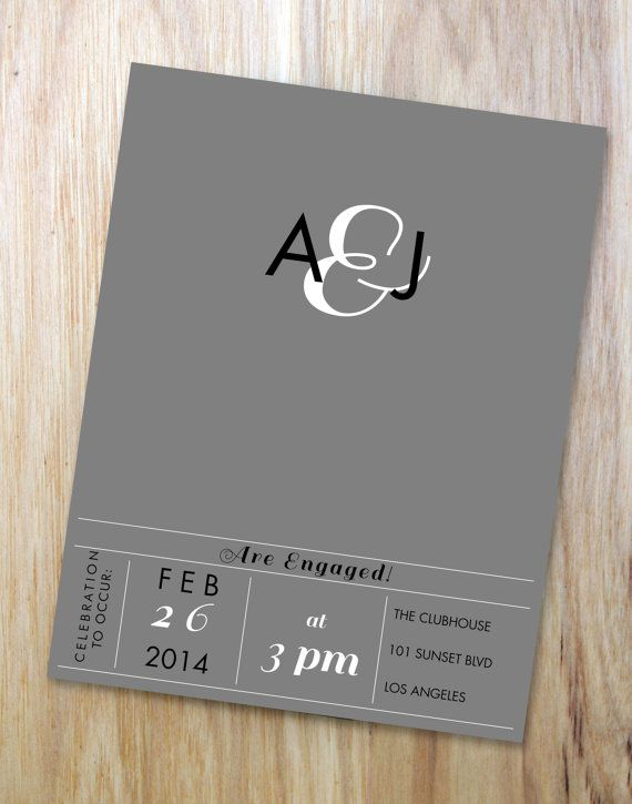 Elegant Engagement Party Invitation You Customize by KCLleuEvents