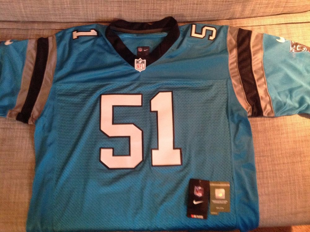 new product a4699 76678 Carolina Panthers #51 Sam Mills Stitched Jersey Xxl Nwt from ...