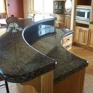 Kitchen Island With Raised Bar | Granite Countertops In Fort Myers, Florida