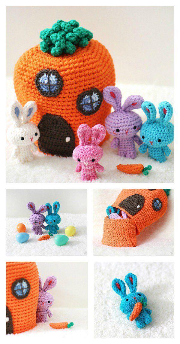 Adorable Free Crochet Rabbit Pattern | Häkeln, Häkeln anleitung und ...