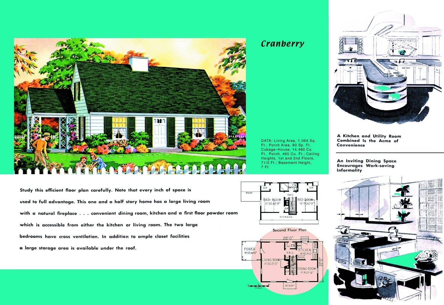 1950s Dream Home Today Cape Cod House Plans Cape Cod House Vintage House Plans