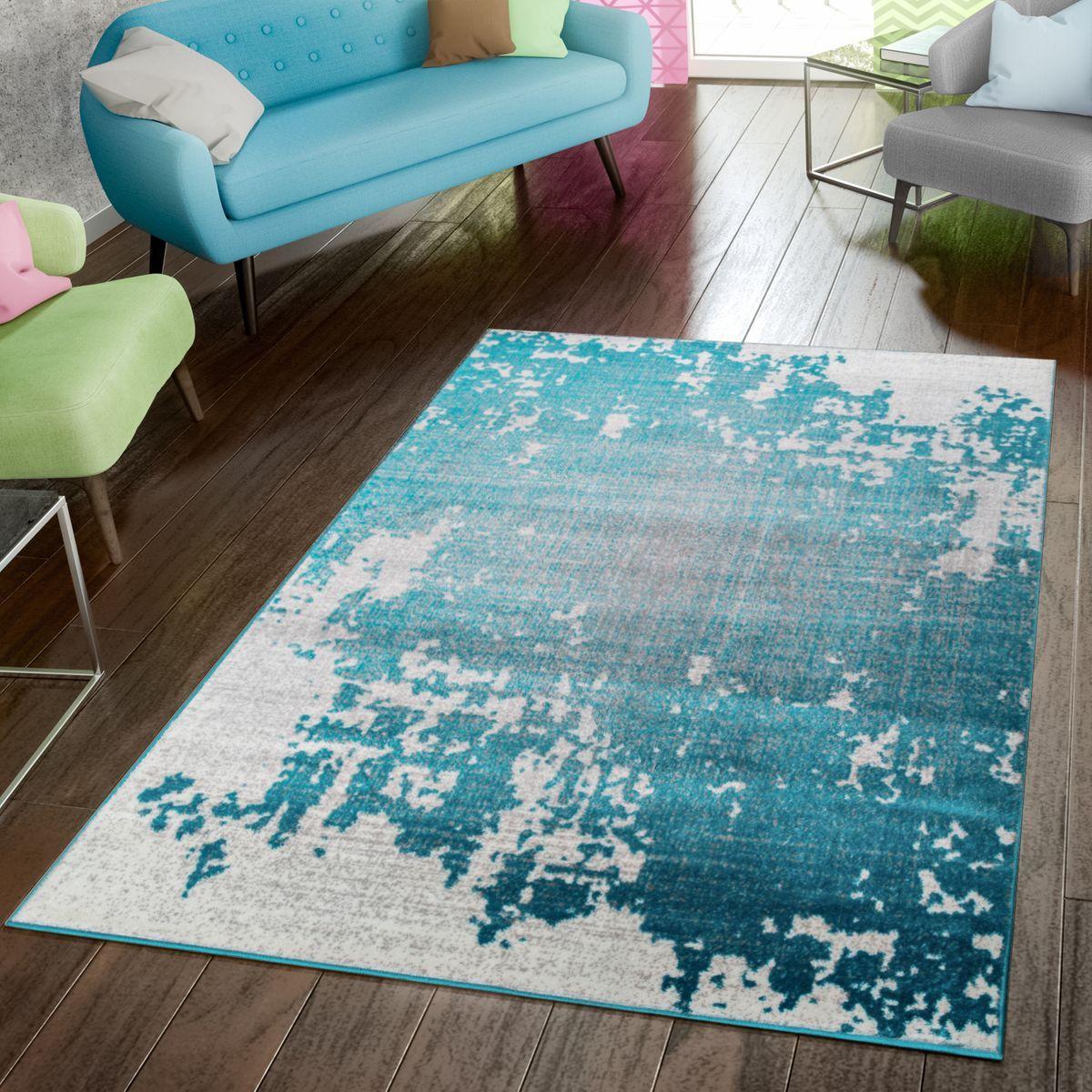 Teppich Modern Preiswert Wohnzimmer Teppiche Abstrakt Vintage In