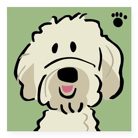 Goldendoodle Square Sticker 3 X 3 Goldendoodle Sticker By Bones