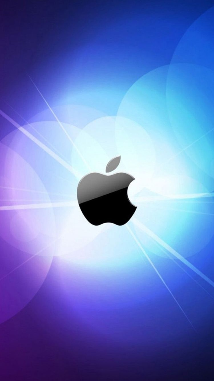 Wallpaper iphone bright - Bright Apple Logo Iphone 6 Wallpapers Iphone 6 Backgrounds And Themes