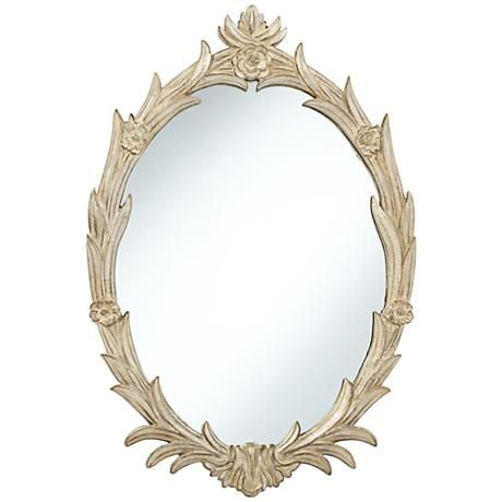 Chateau Lux Stone Acanthus 20 X 30 Oval Wall Mirror Bathroom