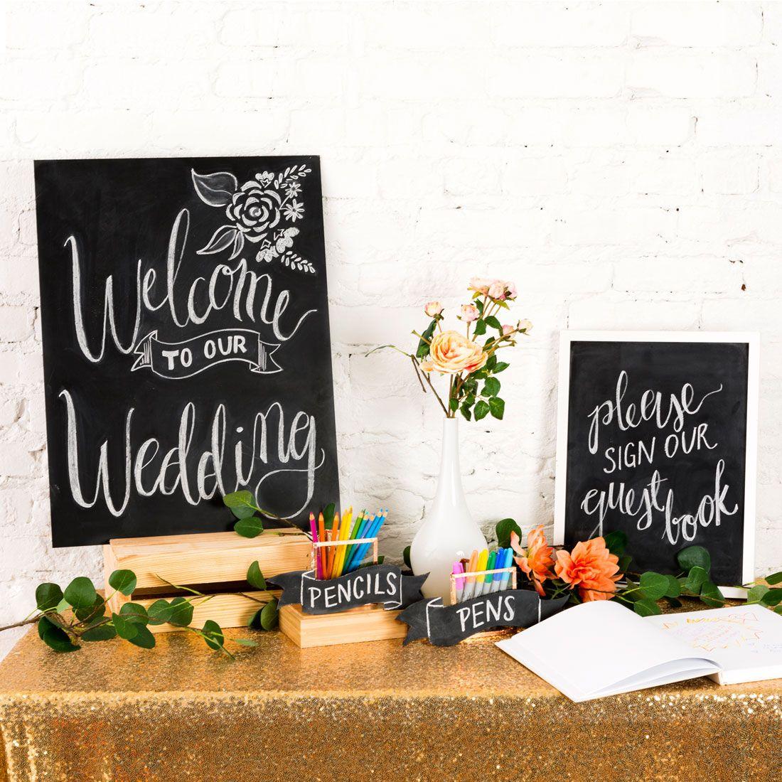 3 Cheap And Easy Ways To Diy Chalkboard Wedding Signs Chalkboard