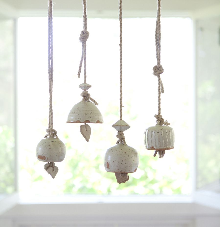 unusual pottery bells by mtwashingtonpottery.com