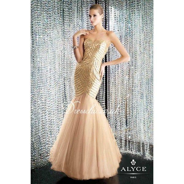 Gold Mermaid Wedding Dresses | 2014 Gold Beaded Sweetheart Long ...