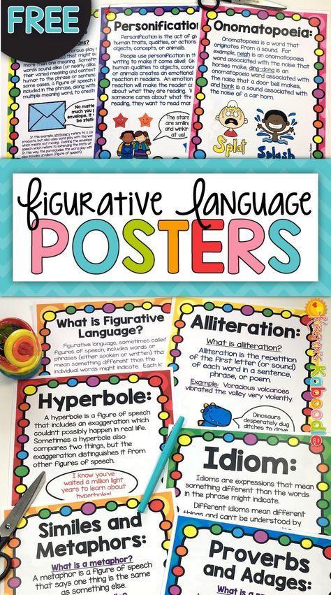 Figurative Language Posters Free Pinterest Alliteration