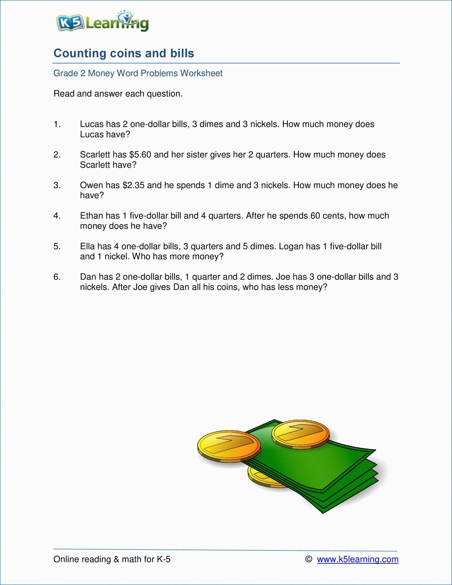 Science Grade Worksheets Problems 2nd Grade Math Worksheets Word Problems Word Problem Word Problem Worksheets Money Word Problems 2nd Grade Worksheets