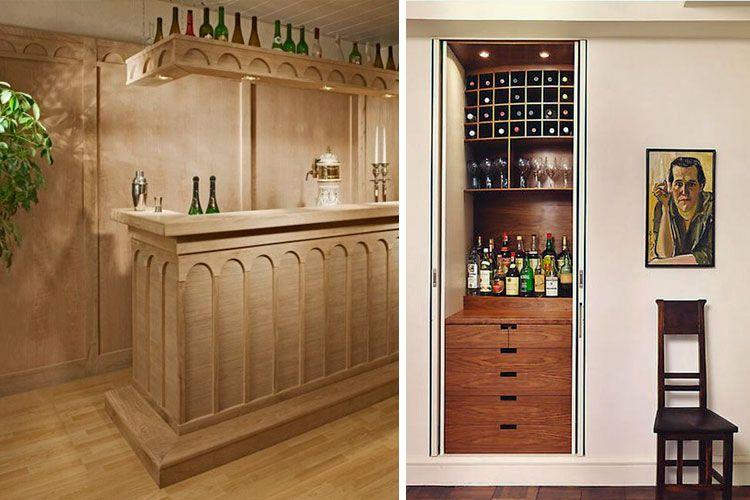 Bar en casa carpinteria pinterest searching for Muebles para bar en casa