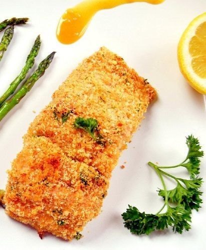 Honey Mustard and Panko Encrusted Salmon