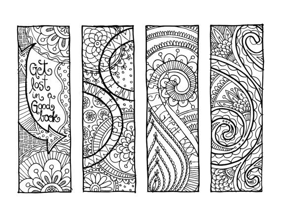KPM Doodles Coloring page Bookmarks | ✐Zentangles ~ Adult Colouring ...