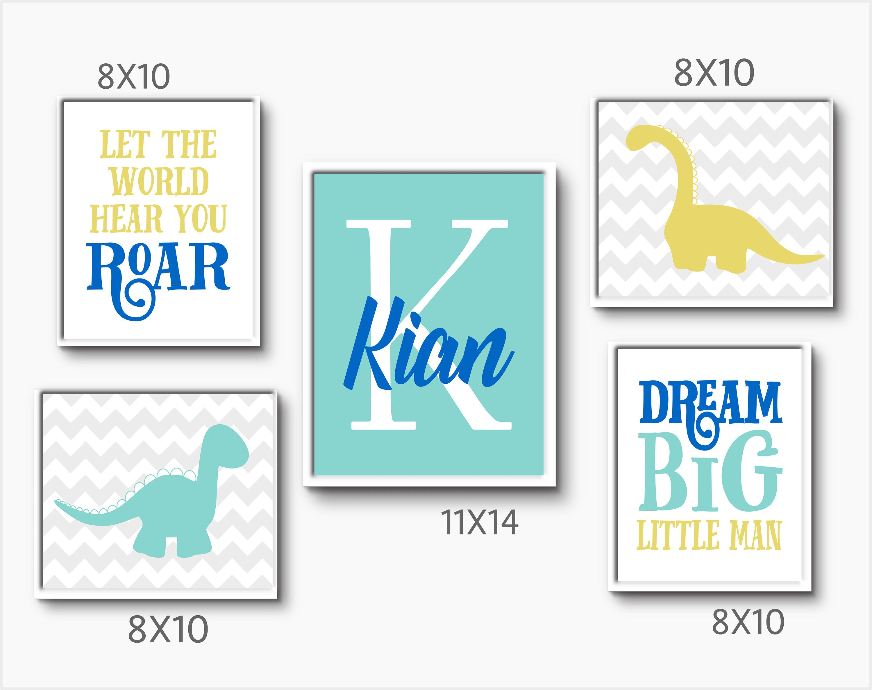 dinosaur bedroom baby name wall art toddler bedroom baby present