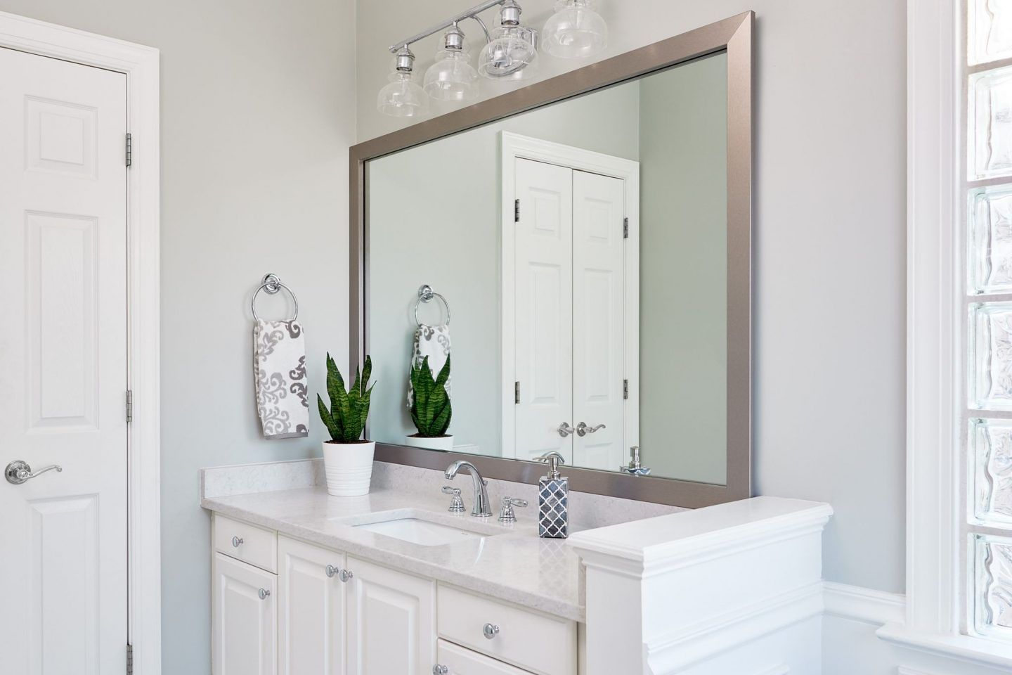 Vanity Mirror Makeover Bathroom