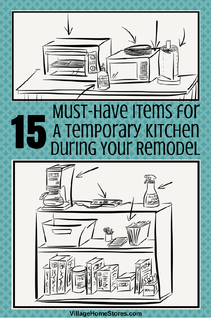 15 Must Have Items For Your Temporary Kitchen During A Remodel Remodel Kitchen Remodel Kitchen Renovation