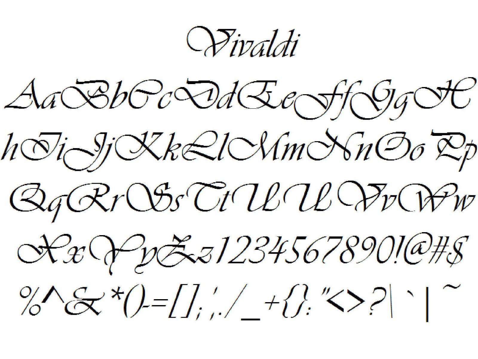 Alphabet Calligraphie Moderne
