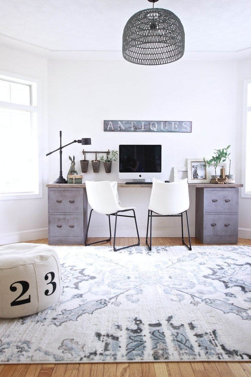 Industrial Farmhouse Office Reveal Home Office Decor Home