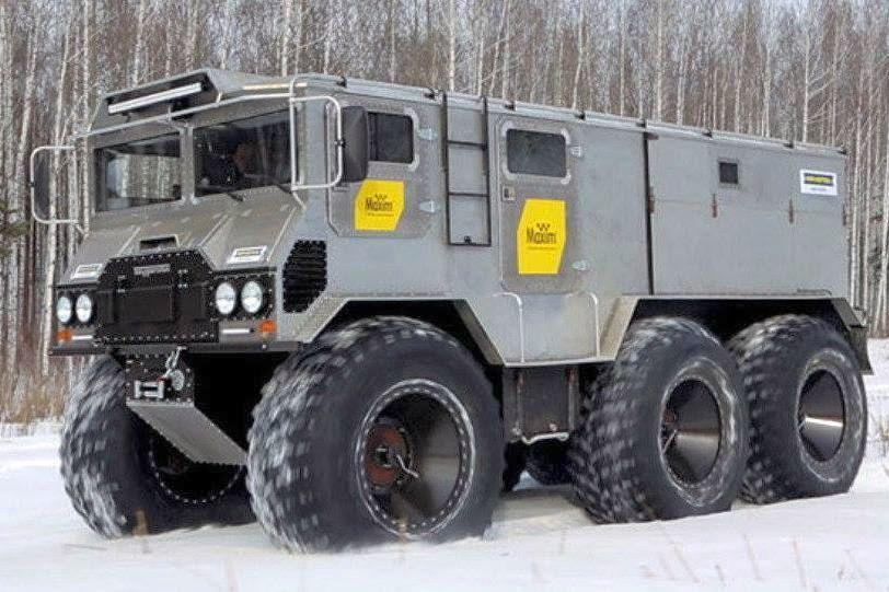 Burlak 6x6 Amphibious Arctic Truck Expedition Vehicle Vehicles Amphibious Vehicle