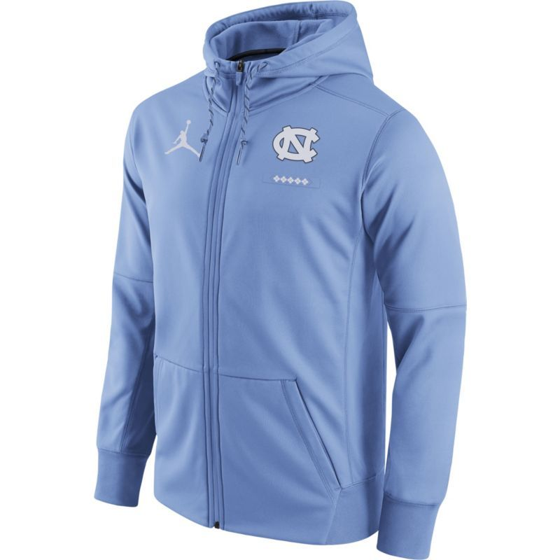 Jordan Men's North Carolina Tar Heels Carolina Blue Therma-FIT Full-Zip Football  Hoodie