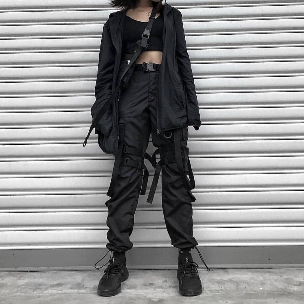 a6d57bc626f HEYounGIRL Streetwear Cargo Pants Women Casual Joggers Black High Waist  Loose Female Trousers Korean Style Ladies Pants Capri