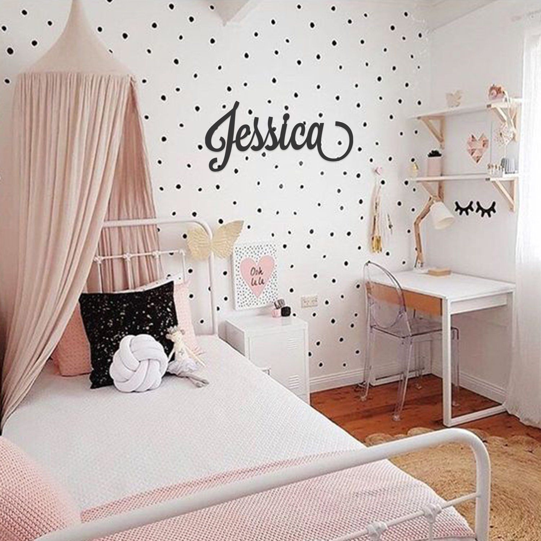 Custom Single Name Word Decor In 2020 Small Room Bedroom Girl