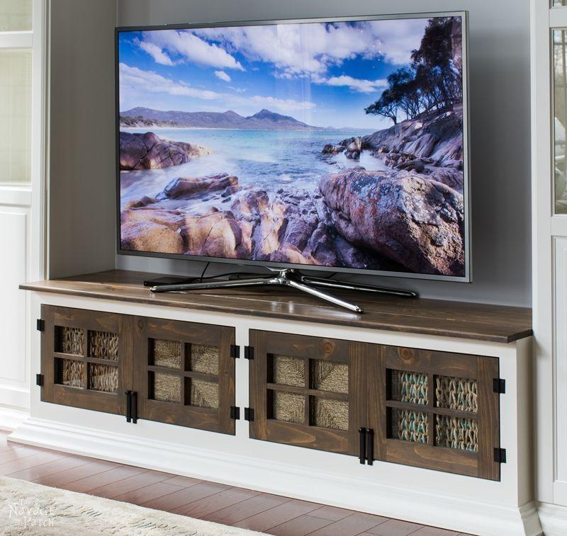 Diy builtin media console diy entertainment center diy