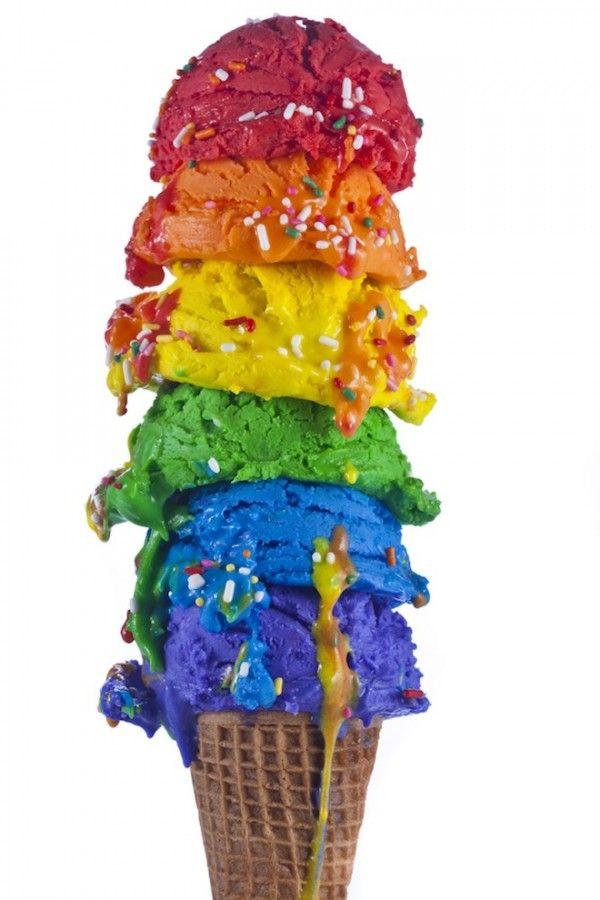 Rainbow Ice Cream Cone.  Wow!