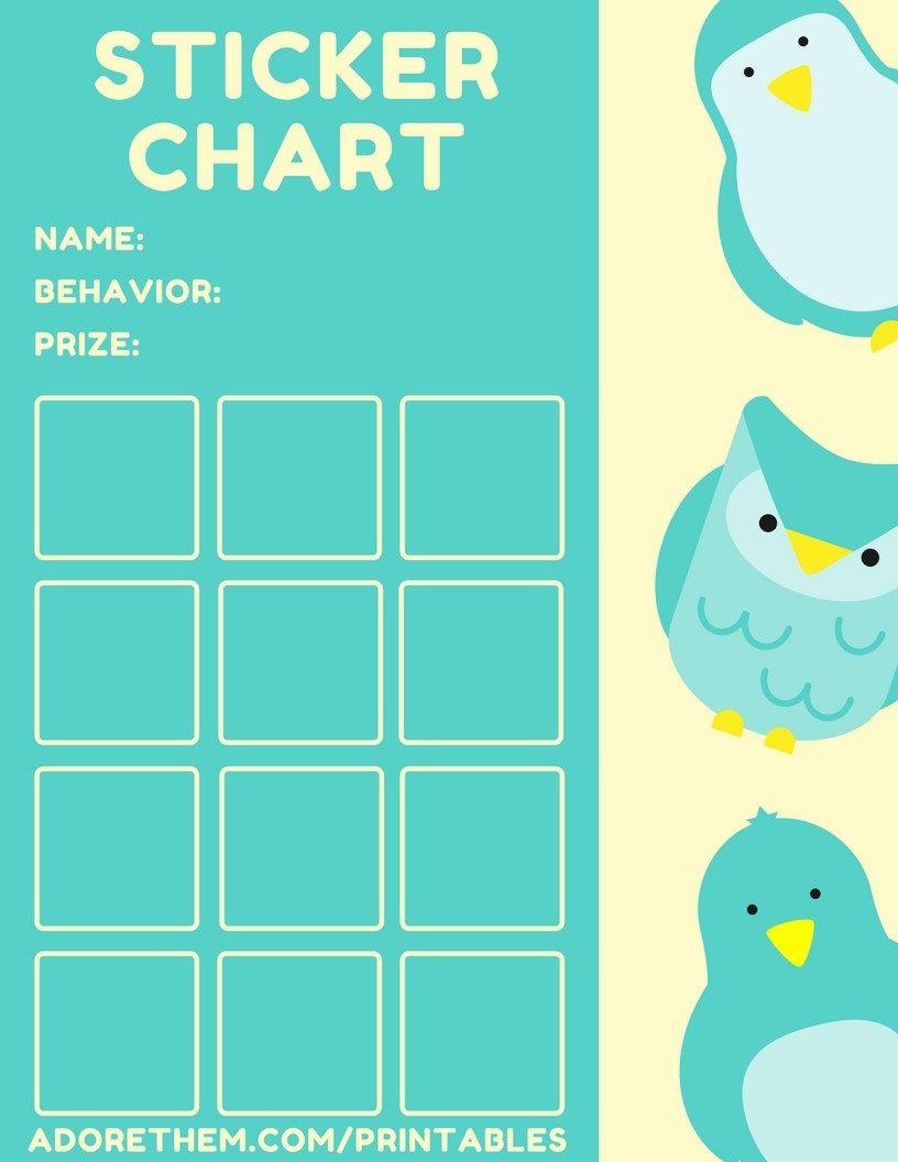 Printable Sticker Charts  Free Behavior Charts  Childbehavior