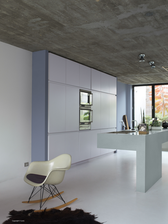plafond ruw beton muren sereen mysterieus smokey keuken kleurinspiratie pinterest. Black Bedroom Furniture Sets. Home Design Ideas
