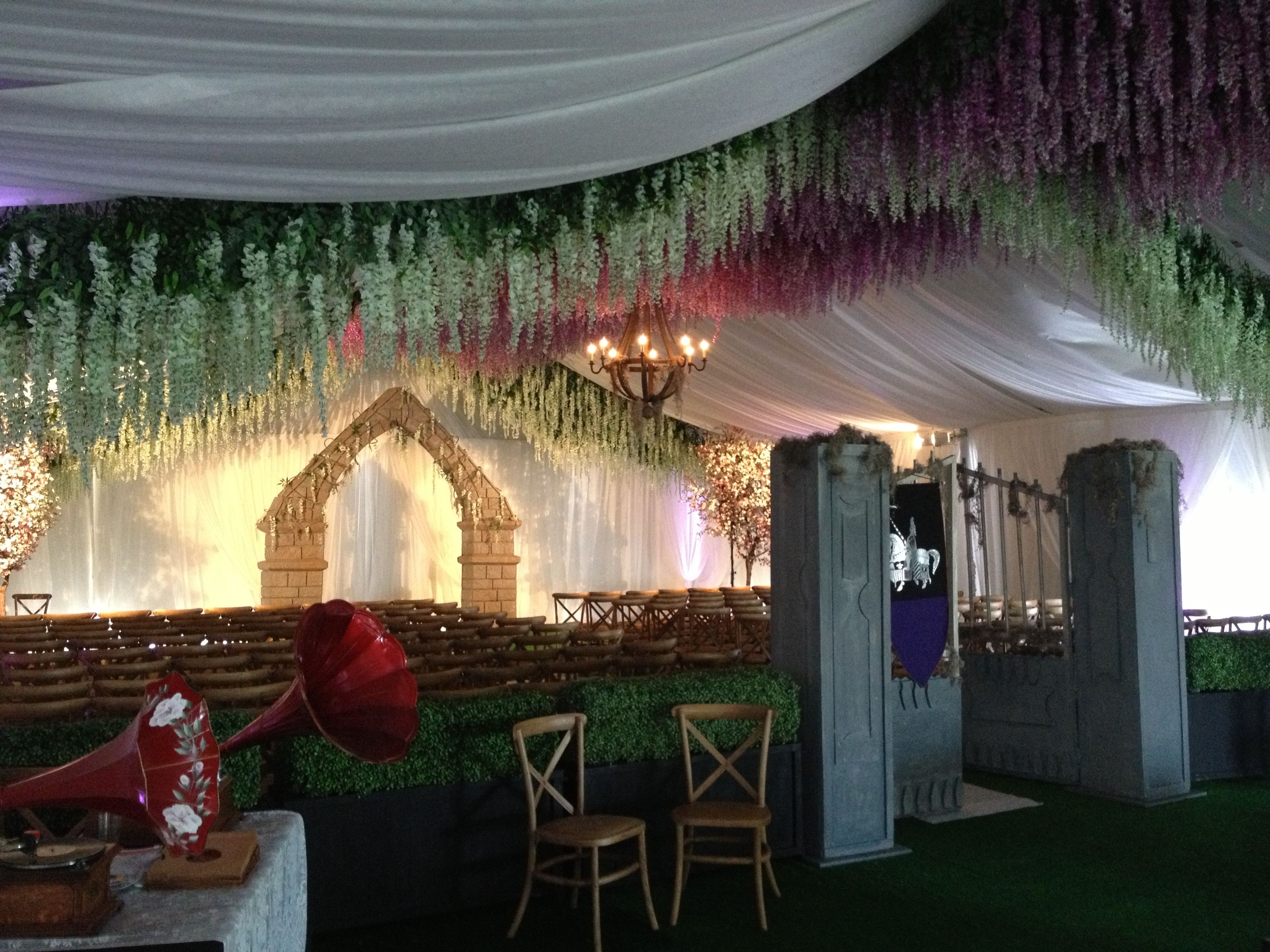 Very Unique Renaissance Theme At A Wedding Reception Under One Of Our Rental Tents
