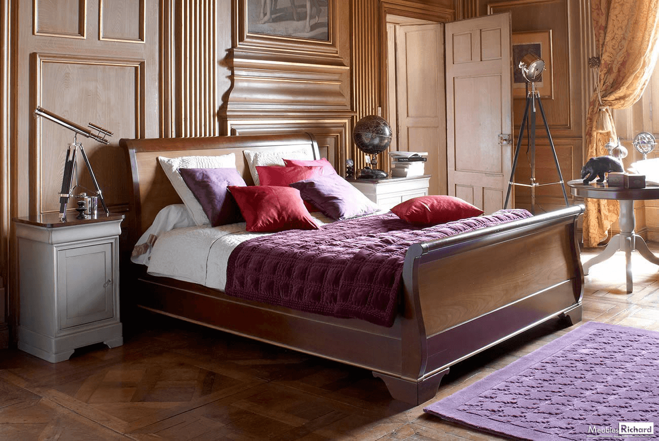Grange Louis Philippe King Size Bed 222x212cm Furniture Modern Grey Living Room French Furniture