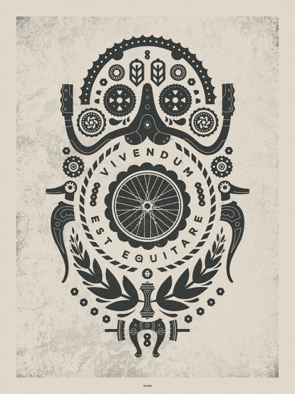 Delicious Design League Artcrank Art Crank Bicycle Bike Print