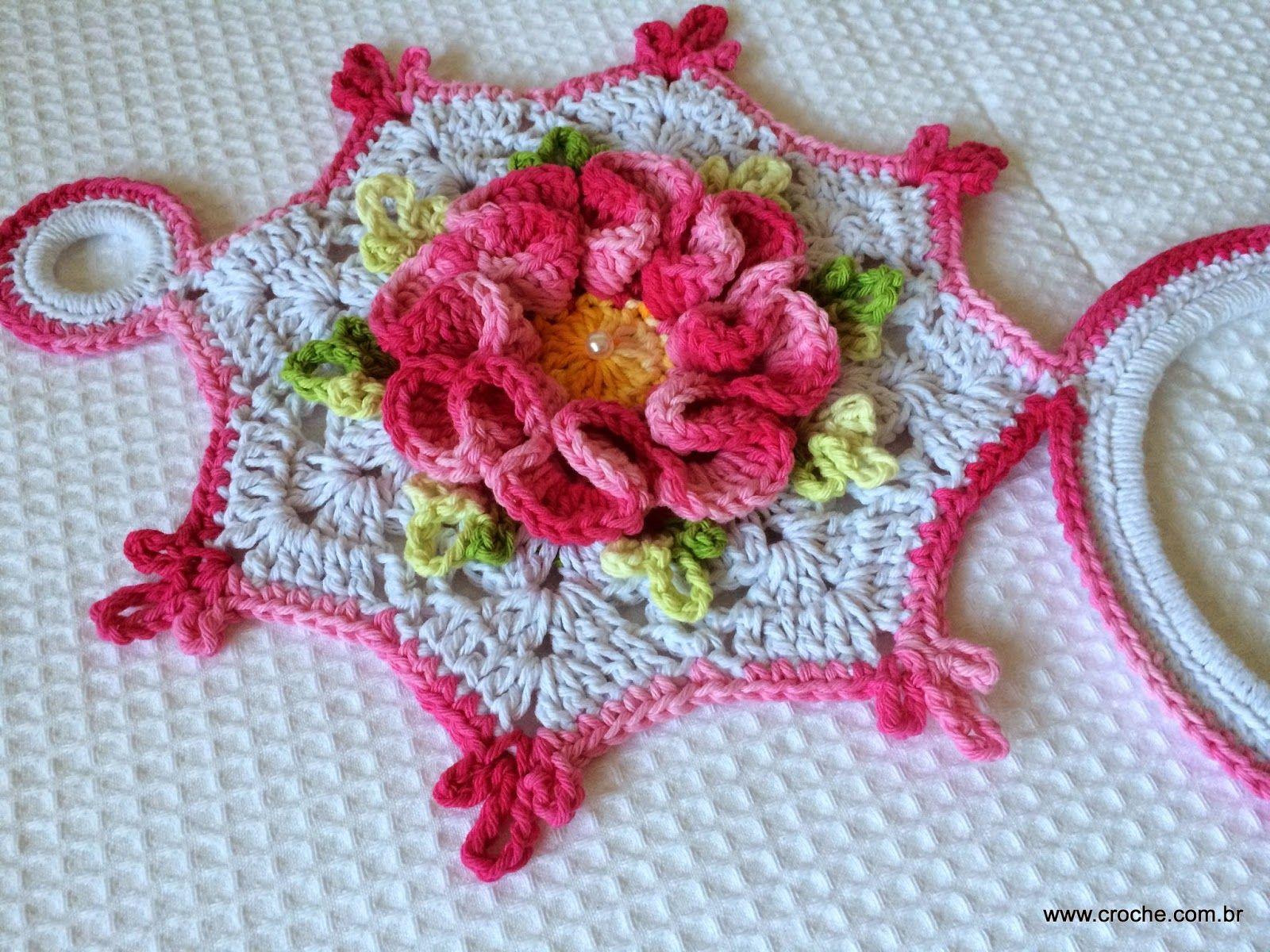 Porta pano de prato passo a passo   Crochet, Crochet ...