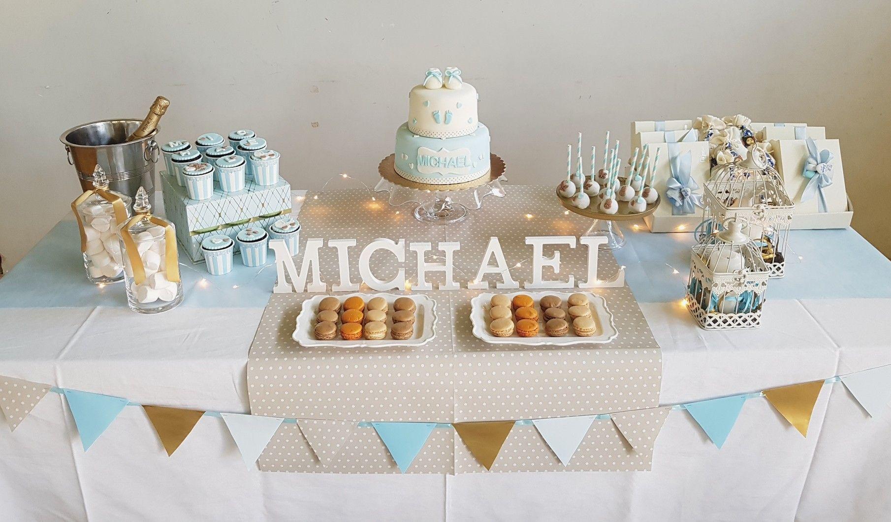 #desserttable  #baptism #cakes #cupcakes #macarons