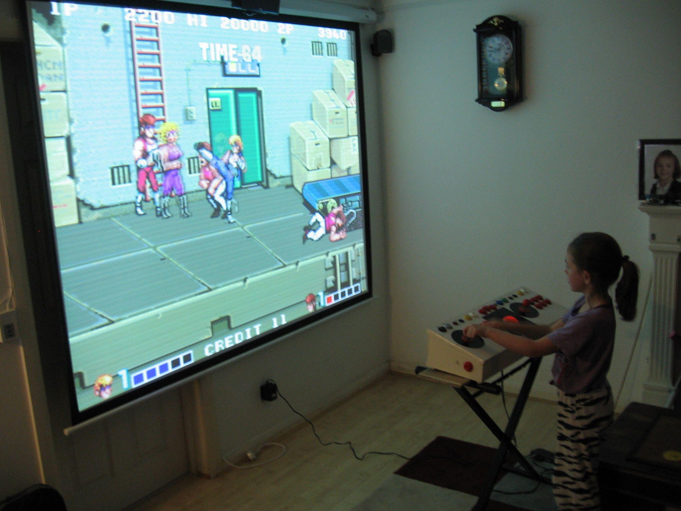 ☆every dads dream☆USB Arcade Controller - playing Arcade