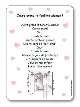 Comptine Ouvre Grand La Fenêtre Maman Fête Des Parents
